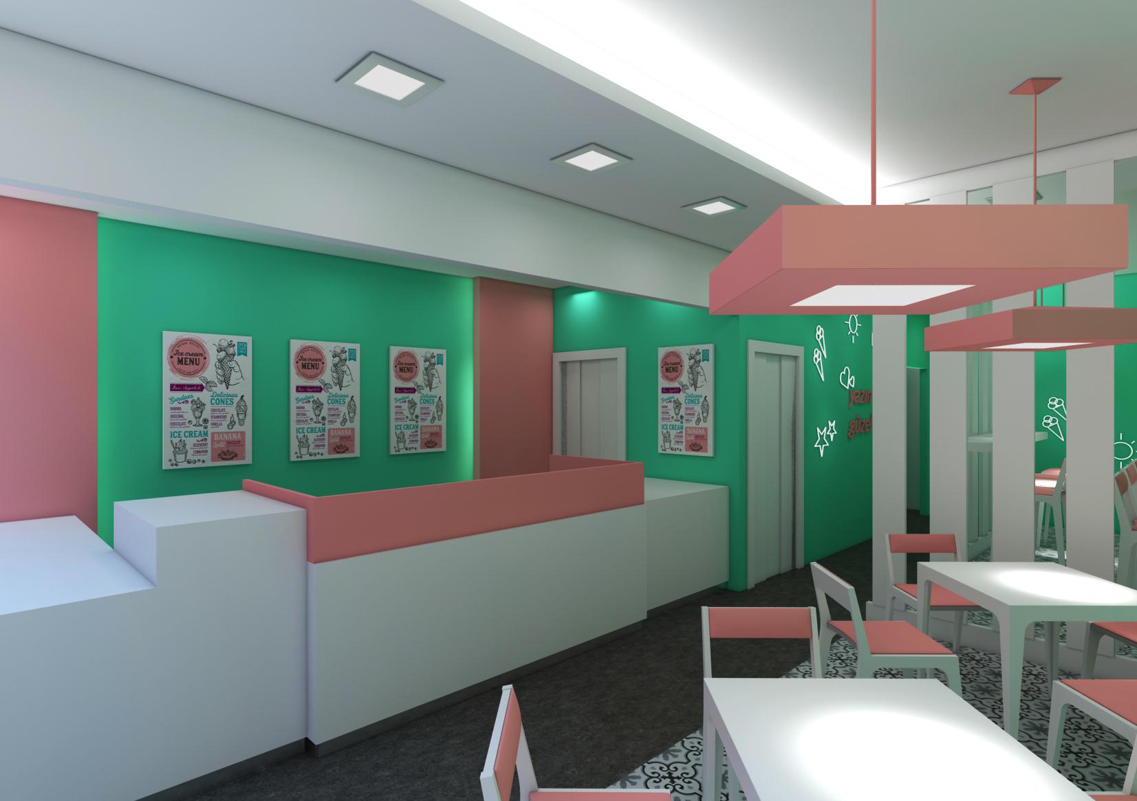 Dondurma Dükkanı Tasarımı